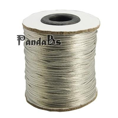 Nylon Thread, Nylon Jewelry Cord for Braided Jewelry Making, Round, Gray, 1mm, about 100yards/roll(China (Mainland))