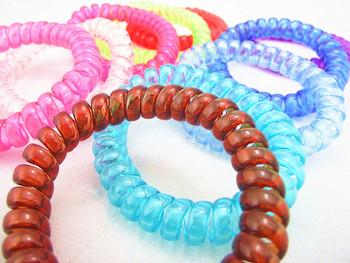 Ts0062 New Oversized Telephone Line Hair Accessories Dual Bracelet Headdress ~ Random Color