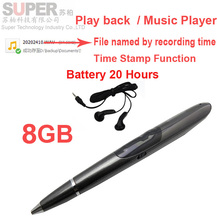 S1 8GB music player MP3 player voice recorder w/ time stamp voice activated battery 20H works audio recorder flash memory player(China (Mainland))