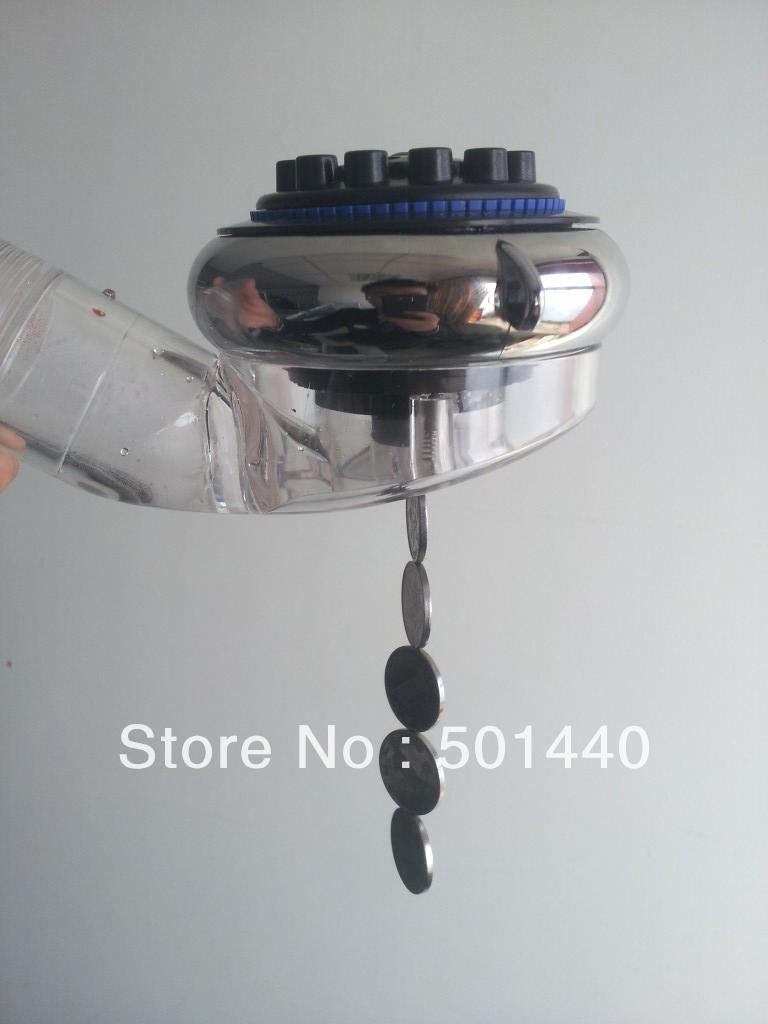 2014 Nano Health Rotatable Alkaline Magnetic Tourmaline Antibacterial Shower Head(China (Mainland))
