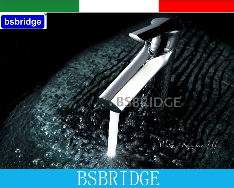 BSBRIDGE Single Lever Hole Bathroom Brass Basin Faucet Chrome Sink Mixer Hot Cold Water Tap Griferia Lavabo Torneira Banheiro(China (Mainland))