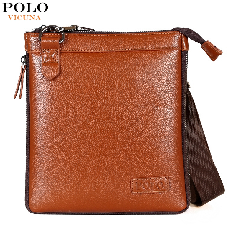 VICUNA POLO Personality Expandable Litchi Pattern Leather Men's Crossbody Bag Fashion Small Men Leather Messenger Bag Sport Bags(China (Mainland))