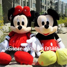 Free Shipping Special price 50cm Lovely Mickey Mouse And Minnie Stuffed Animal Toys for children's gift ,Christmas Gifts(China (Mainland))