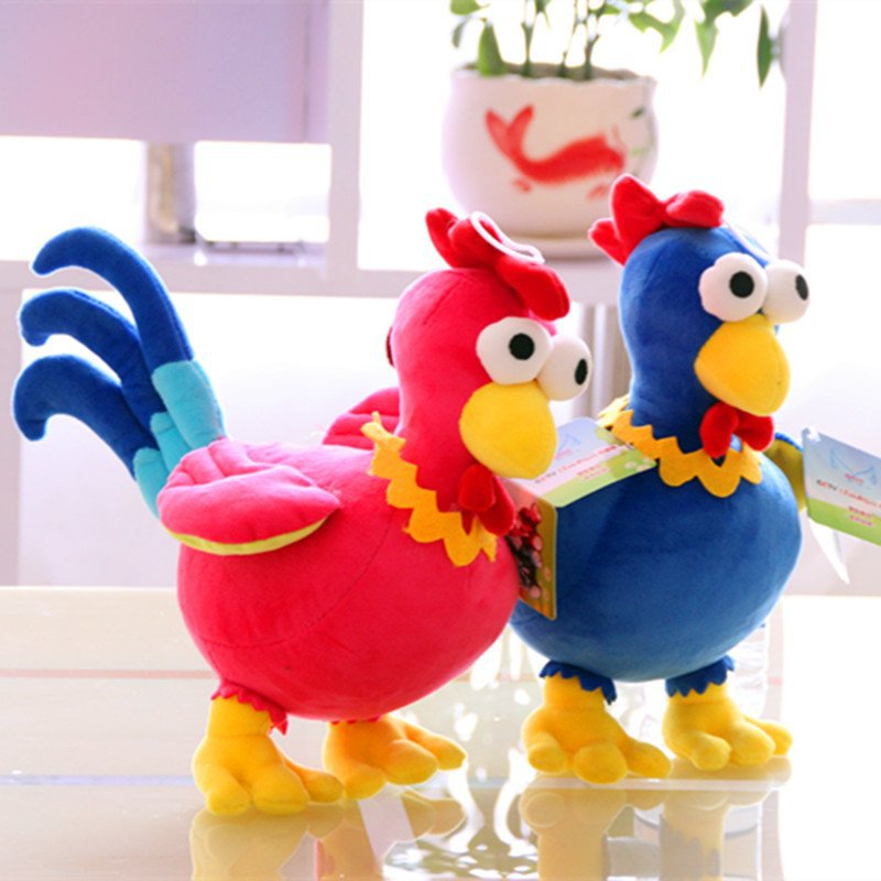 New hot 30cm New Year Rooster Plush Toy Stuffed Chicken Phoenix Birds Peacock Soft Toys for Children Kids Baby Girls Gifts(China (Mainland))