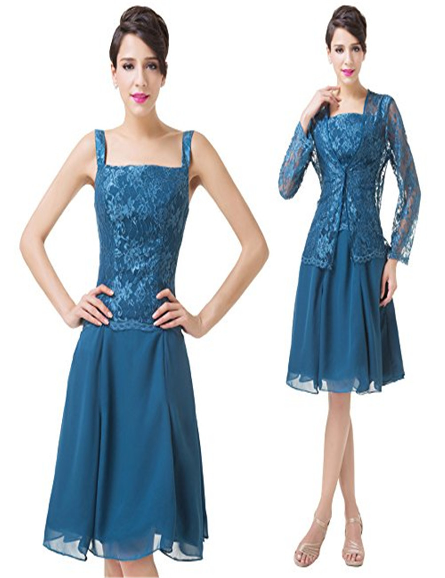 Formal cocktail dress women church suit with jacket mother for Cocktail dress with jacket for wedding