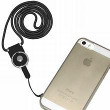 10PCS Detachable Phone Neck Lanyard For iPhone lanyard id badge holder Black Blue Green Pink RandomColor tour de cou porte clefs(China (Mainland))