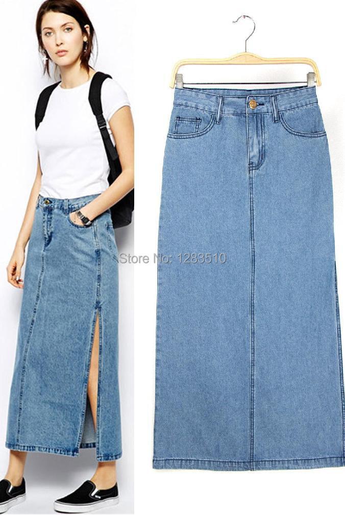 whole sale 2015 new arrival denim skirt a line slim casual