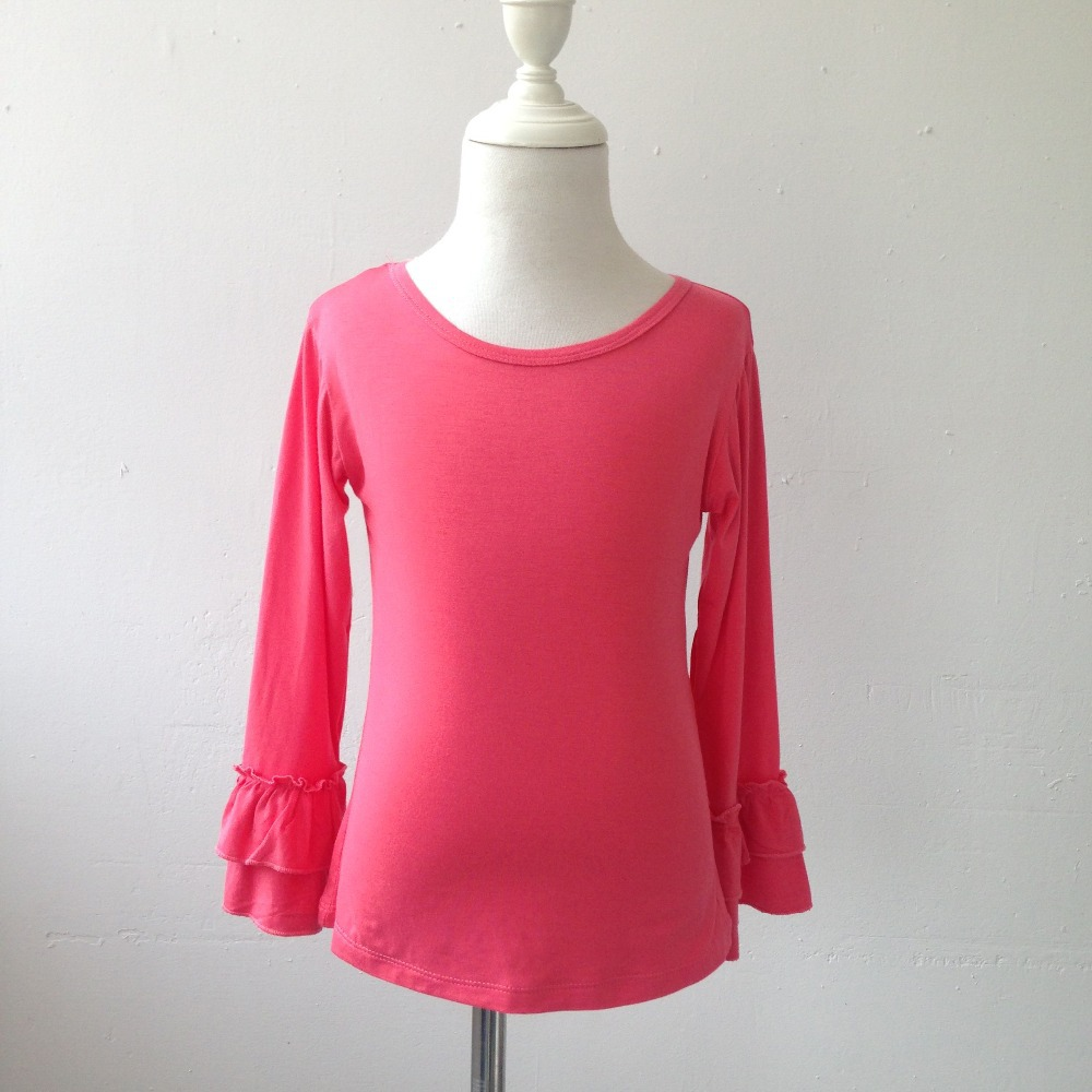 Wholesale cotton autumn winter girls blank long sleeve for Wholesale children s t shirts