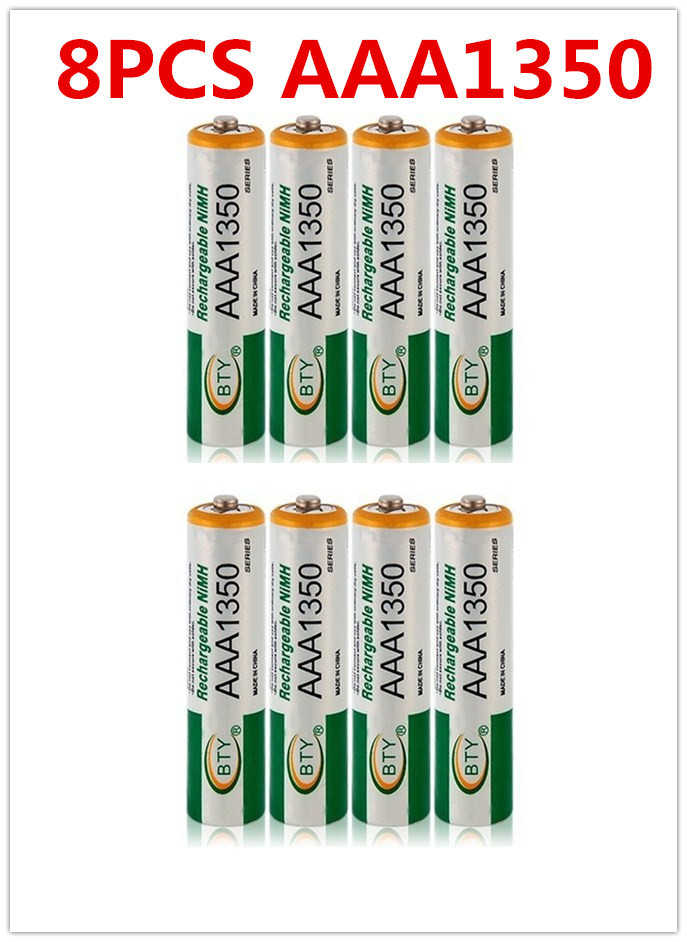 8 Pcs 3A 1350mAh 1.2V AAA Size Ni-MH Rechargeable Battery Cell RC BTY free shipping(China (Mainland))