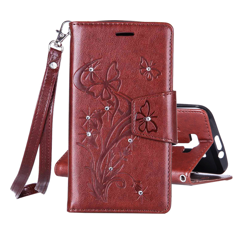 Vintage PU Leather 3D Flowers Print Full Flip Cover Case Asus ZenFone 2 Laser ZE500KL 5.0 inch Stand Function Phone Bag Funda  -  OnLines 3C store store
