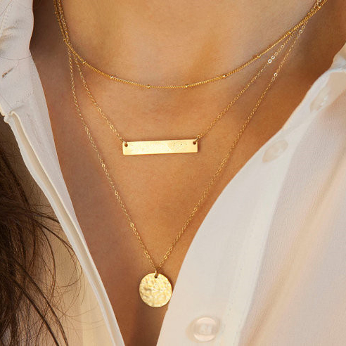 Free shipping special store $1 items gold statement za necklace 2015 girly women's clothing & accessories bids jewelry(China (Mainland))