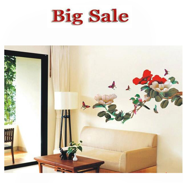 60*100 cm The Bird And The Flying Saucer Beautiful Living Room Wallpaper Paste Stickers Tv Removed Wall Stickers For Kids Rooms(China (Mainland))