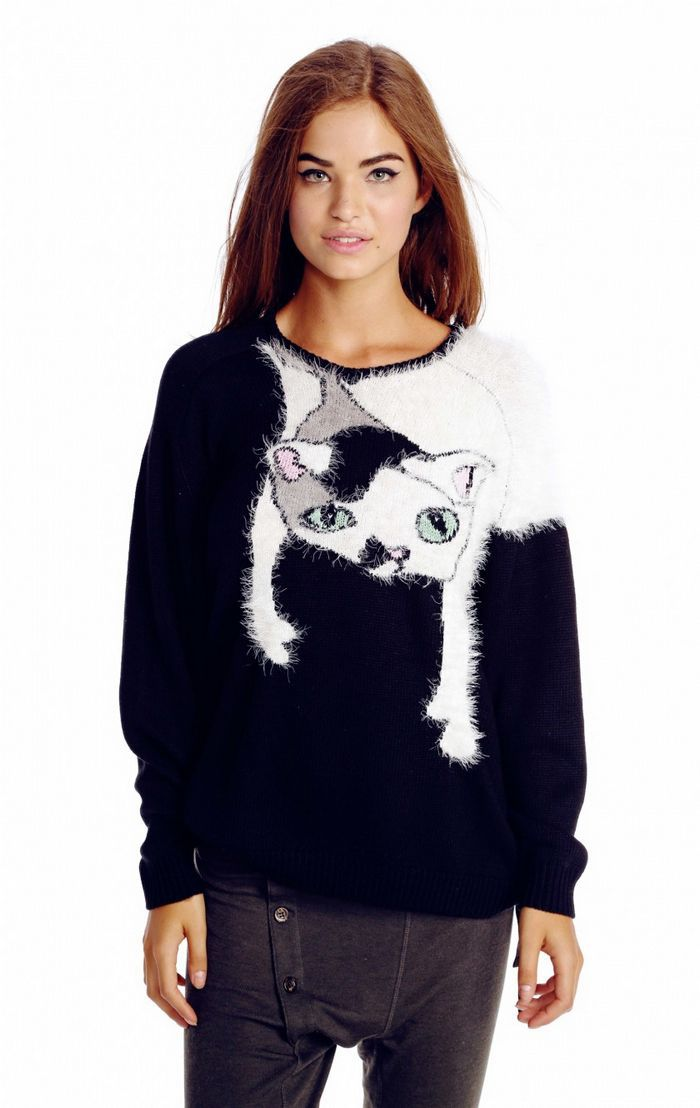 Related: cat sweater for cats cat sweater for women cat sweatshirt cat dress cat hoodie cat shirt cat clothes dog sweater cat blouse cat sweater pocket. Include description. Categories. All. Clothing, Shoes & Accessories H&M Women's Cat Sweater Metallic Halloween Crew Neck 2 Small. Pre-Owned. $ Buy It Now +$ shipping.