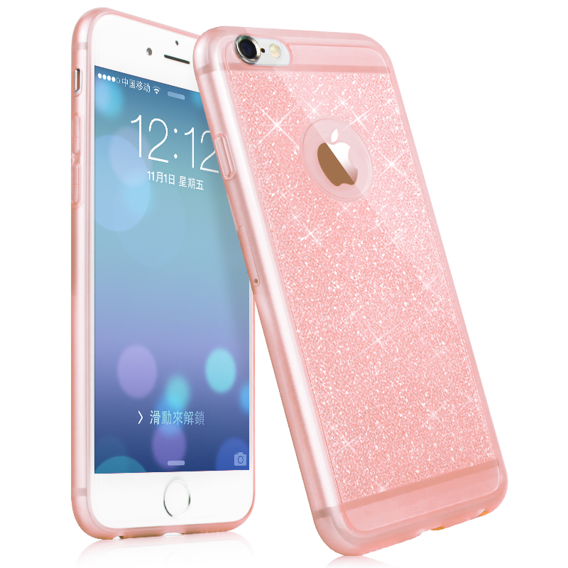 New luxury phone case For iphone 5 5s 6 6s plus case mobile phone accessories TPU soft shining golden Bling cover For apple(China (Mainland))