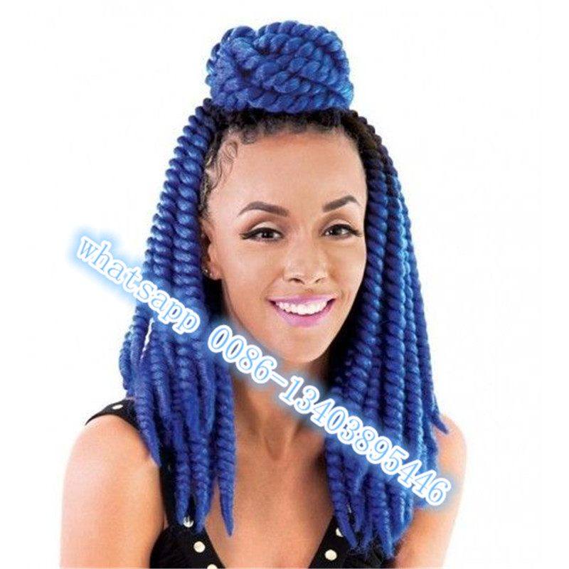 Crochet Hair Havana Mambo : Crochet Hair Extensions Twists blue Havana Mambo Twist Crochet 12
