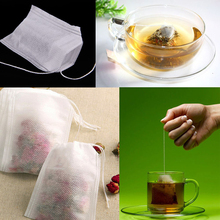 New Teabags 100Pcs/Lot 5.5 x 6CM Empty Tea Bags With String Heal Seal Filter Paper for Herb Loose Tea Free Shipping Wholesale(China (Mainland))