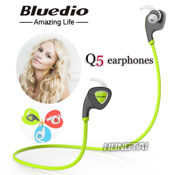 Q5 Bluetooth V4.1 Earphone Stereo In Ear Earbud Headset Wireless Sports Sweatproof Headphone Support APP Noisy Reduction(China (Mainland))