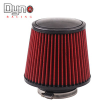 DYNO RACING --- Universal 76mm and 160 mm height  Cold Air Intake Air Filter whitout  logo(China (Mainland))