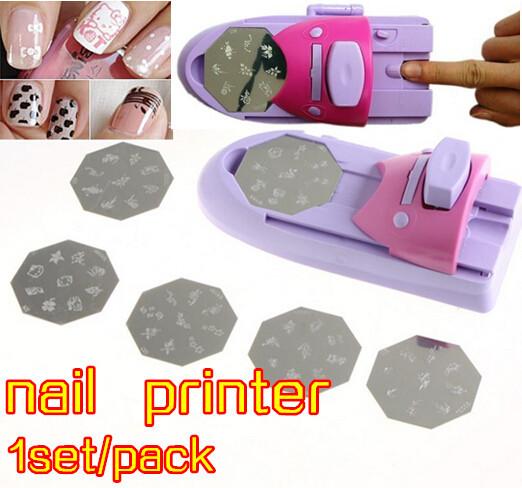 2016 new nail art printer,printer gel nails polish printing machine nail tools free shiping ,DIY nails printer with 6 patterns(China (Mainland))