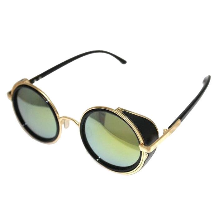 2016 Men Women Vintage Retro style Mirror Steampunk Goggle men 's women's Sunglasses Brand Designer glasses for sight(China (Mainland))