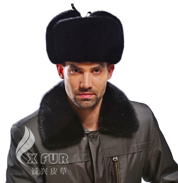 Здесь можно купить  CX-C-170A Real Mink Fur Custom Russia Fur Men Hat  Одежда и аксессуары