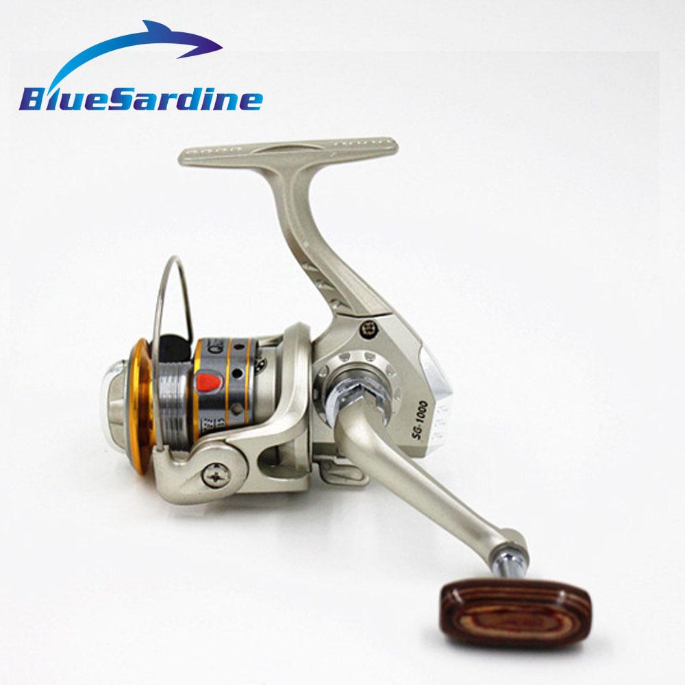 Metal Head Fishing Reel Spinning 6 Ball Bearing 5.1:1 Coil Aluminum Spool 5000 4000 3000 2000 1000(China (Mainland))