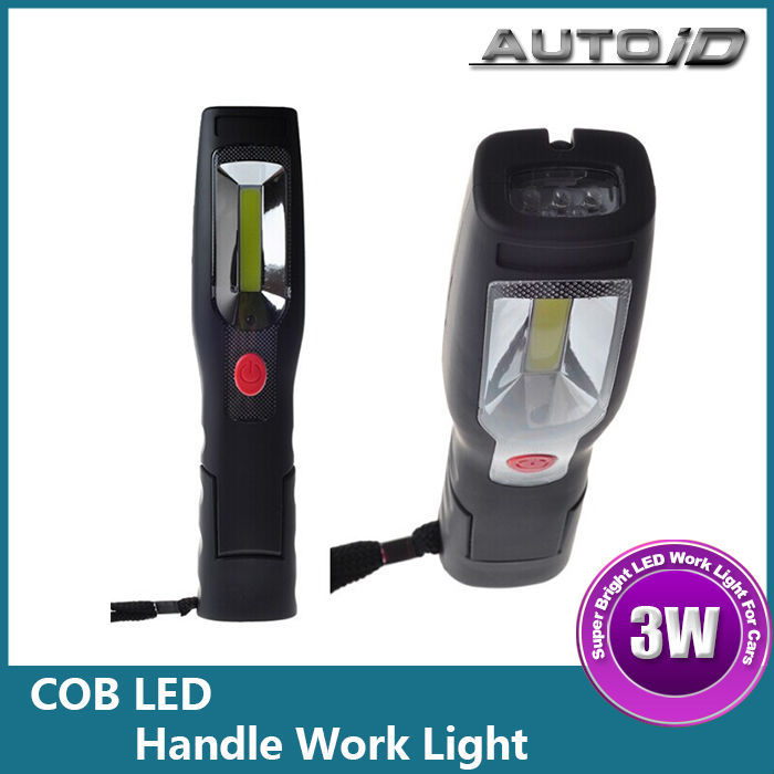 Two Sets Rechargeable 3W 210lm LED Handle Work Light 12V