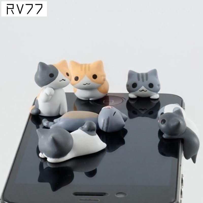 3.5MM Mobile Phone Earphone Jack Cute Cartoon Cat Model Dust-Proof Plug For iPhone For Android Smart Phone(China (Mainland))