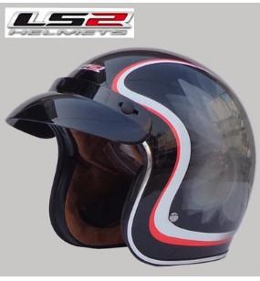 Free shipping LS2 OF583 Prince retro helmet helmet motorcycle helmet/MBlack lotus