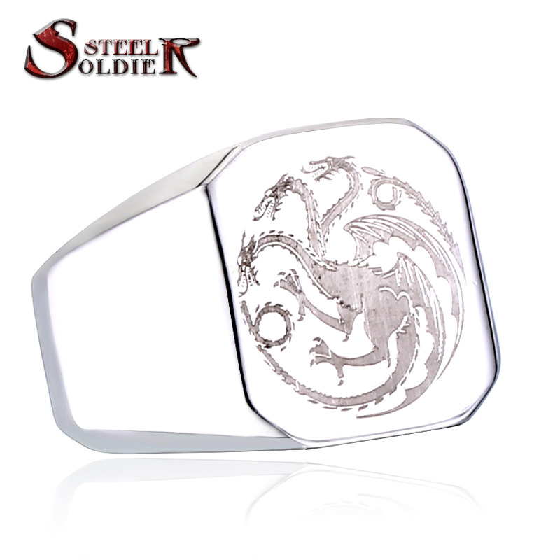 arrival !Game of Thrones Logo Fire Dragon men ring top quality retail and wholesale jewelry BR8-196(China (Mainland))