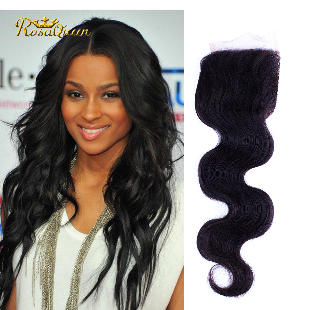 Malaysian Virgin Hair with closure 8a Grade Virgin Unprocessed Human Hair Tissage Bresilienne Rosa Hair Product virgin Body Wave<br><br>Aliexpress