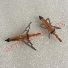 two expandable blades arrow point 6pcs arrow tip hunting arrow head and archery broadhead for crossbow