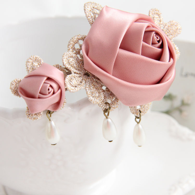 Handmade clip hair jewelry DIY hairpin vintage hair accessories little girl gift FJ-150(China (Mainland))