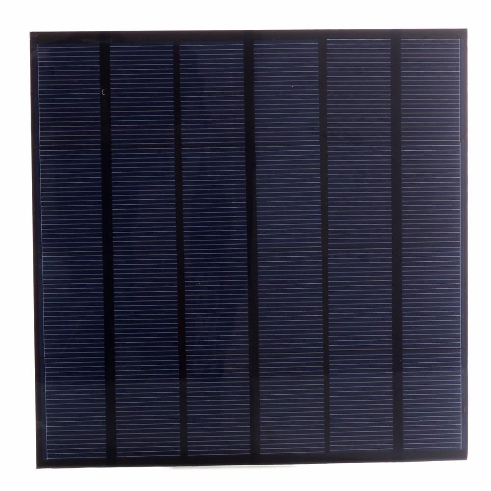 4.5W 6V Size 165*165mm Solar Cell Monocrystalline PET + EVA Laminated 750mAh DIY Mini Solar Panel for Test and Education(China (Mainland))