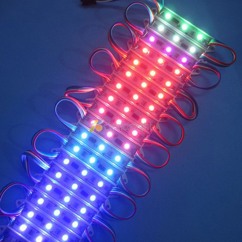 New 20pcs  DC 12V 3 Leds 5050 SMD RGB Waterproof WS2801 LED pixel Module Light Lamp Free Shipping<br><br>Aliexpress