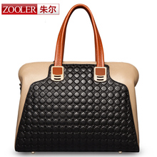 (NEWS! All three colors are available.)ZOOLER BRAND Genuine Leather bag bags Handbags women Shoulder bags OL Style women bag(China (Mainland))