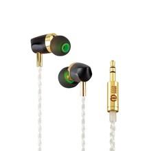 Buy AK New BOSSHIFI B3 Dynamic Armature 2 unit Ear Earphone Silver Cable HIFI Earbud Hybrid Driver Headset for $40.50 in AliExpress store