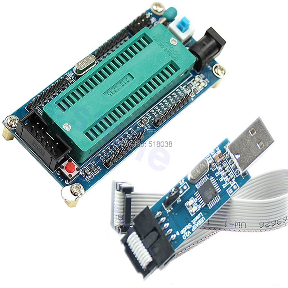 A25 Newest 2014 1set ATMEL For ATMEGA16 ATmega32 AVR Minimum System Board + USB ISP USBasp Programme Free Shipping(China (Mainland))