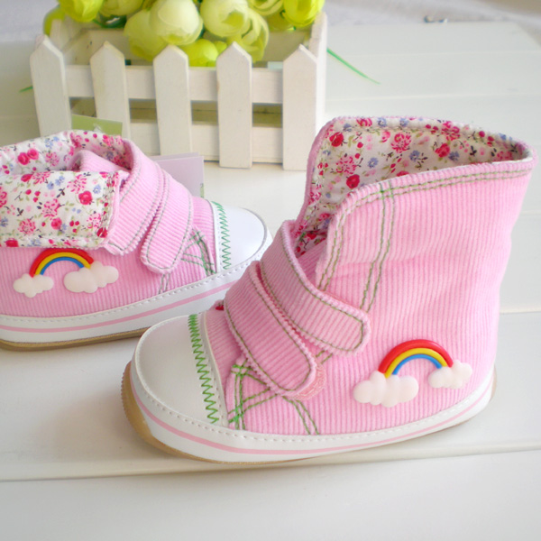 1 – 3 years old thickening rainbow baby infant shoes soft