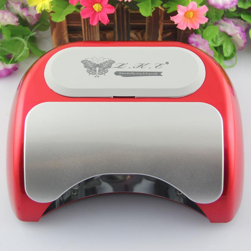 Brand LKE 48W Red/White/Black Nail UV Gel Curing Lamp Light Nail Machine Beauty UV Lamp Light Nail Dryer LED Nail Lamp(China (Mainland))