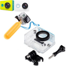 Buy Sports Action Camera Case Xiaomi Yi Waterproof Case Box Mi Yi 40 Diving w/ Floaty Bobber Monopod Xiaomi Yi Accessories for $10.49 in AliExpress store