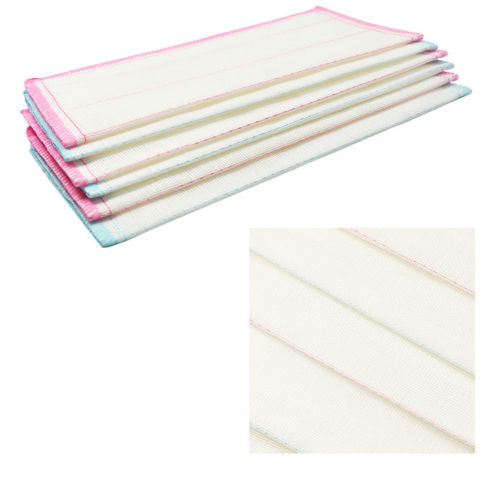 10 PCS Kitchen Pink Stripes Pattern White Dish Bowl Hand Cleaning Cloth Towel(China (Mainland))