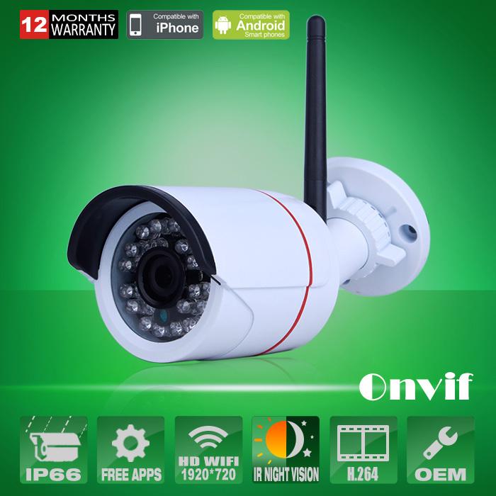 Home Surveillance Video Security Camera CCTV HD 720P Wireless WIFI Network IP Camera Outdoor Onvif H.264 IR Night Vision IP Cam(China (Mainland))