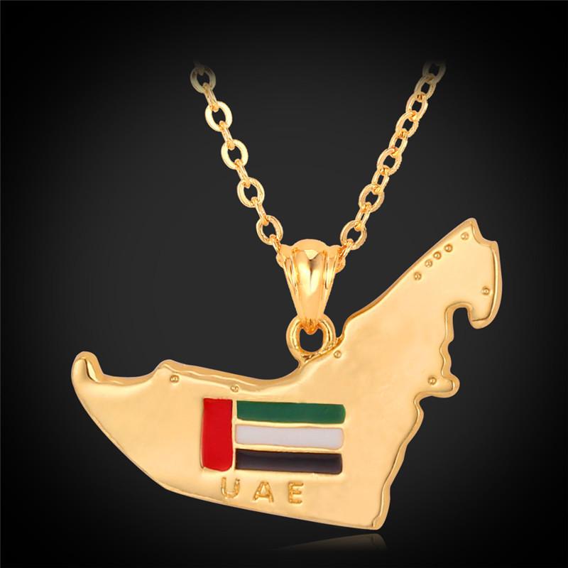 Arabic jewelry Map Pendant 18K Gold Plated free shipping wholesale Arabic Necklace pendant wholesale p563(China (Mainland))