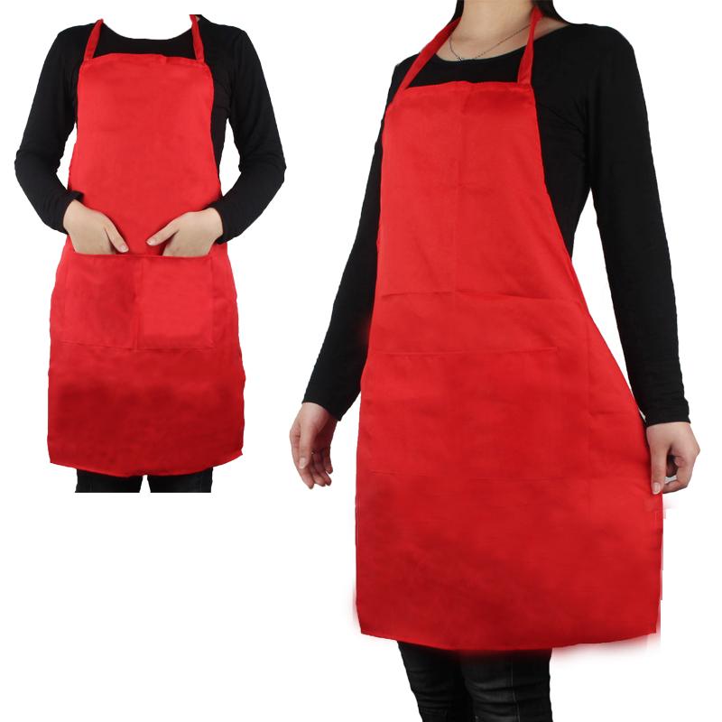 Hot 2016 Women Men kitchen Apron Waiter Aprons With Pockets Restaurant Kitchen Cooking Shop Art Work Apron Custom Printable logo(China (Mainland))