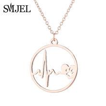 SMJEL petit coeur collier pour femmes Collares grand coeur étoile pendentif collier cadeau ethnique bohème Choker bijoux Kolye 2019(China)