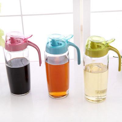 Большой бытовой стекла 500 мл утечка масленка масленка кухонных принадлежностей приправы бутылки бутылки масла уксус соус бутылки