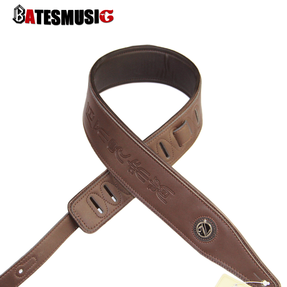 Genuine Leather Straps / Bass Guitar Strap with Ancient and Mysterious Hieroglyphic / Brown Strap for Guitar<br><br>Aliexpress