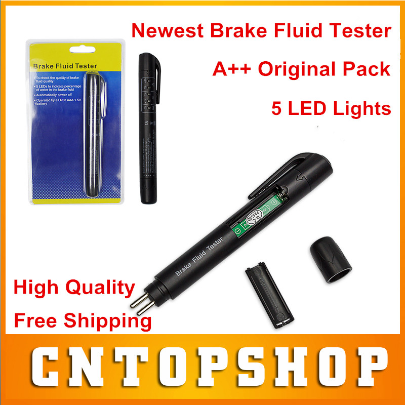 High Quality Brake Fluid Tester Pen With 5 LED Lights Digital Brake Liquid Test Detection Pen Auto Vehicle Tester Original Pack(China (Mainland))