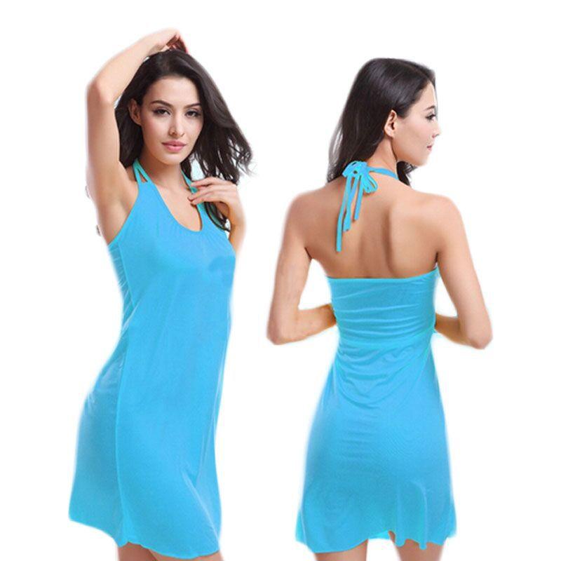 Summer Style Sexy Dresses Beach Dress Plus Size Women Clothing Aliexpress 2015 New Backless Dress Vestido Mujer Halter C183(China (Mainland))